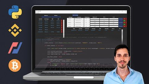 """This course will guide you through all the steps required to write a program in Python for algorithmic trading, using the best coding practices. It is a perfect example of the """"learning by doing"""" pedagogy: instead of learning only theoretical concepts, you will learn important concepts whilst creating areal trading application, from API connections to trade management."""